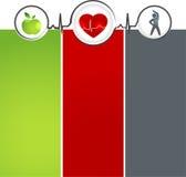 健康模板 免版税库存图片