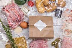 健康每日饭食交付 免版税库存照片