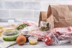 健康每日饭食交付 免版税库存图片