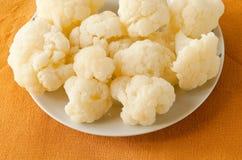 健康煮沸的花椰菜可口的食物 图库摄影