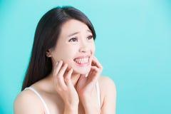健康牙齿概念 库存图片