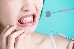 健康牙齿概念 免版税库存图片