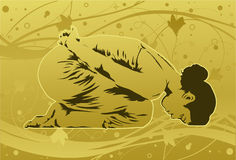 健康瑜伽 免版税库存图片