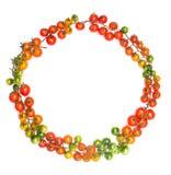 健康生活方式西红柿圈子形状概念 免版税库存图片