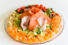 健康生鱼片日本人沙拉 库存照片