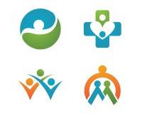 健康生活和乐趣商标 免版税图库摄影