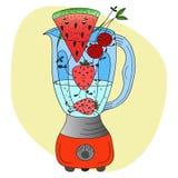 健康生活方式圆滑的人食谱 库存例证