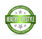 健康生活方式封印例证设计 库存例证