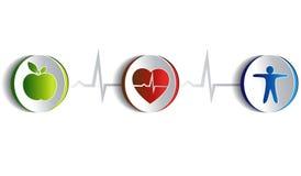 健康生活方式艺术性的设计 库存照片