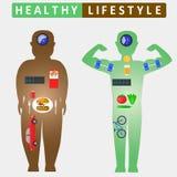 健康生活方式infographics 库存照片