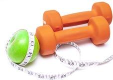 健康生活-营养&行使 免版税库存图片