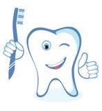 健康白色发光的牙 库存图片