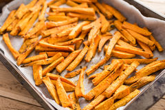 健康白薯,被烘烤的油炸物 图库摄影