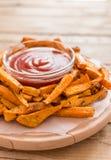 健康白薯,被烘烤的油炸物 免版税图库摄影