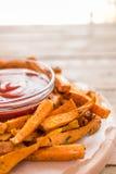 健康白薯,被烘烤的油炸物 库存照片