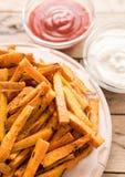 健康白薯,被烘烤的油炸物 库存图片