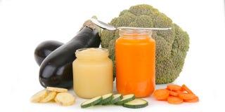 健康的婴儿食品 免版税库存图片