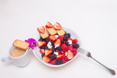 健康的早餐 免版税库存图片