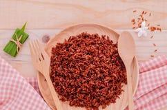 健康的蒸的整个五谷传统泰国米最佳的米 库存照片