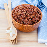 健康的蒸的整个五谷传统泰国米最佳的米 库存图片