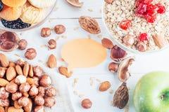 健康的食物 成份健康早餐 库存照片