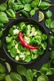 健康的食物 新鲜的蔬菜沙拉 库存照片