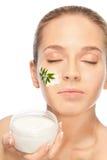 健康秀丽的化妆用品 库存照片