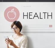 健康精神物理营养生命力健康概念 库存图片