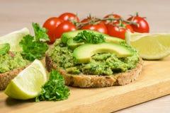 健康素食主义者饮食-鳄梨调味酱捣碎的鳄梨酱 免版税库存照片