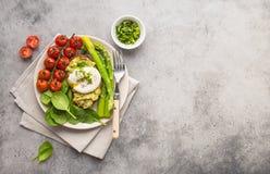 健康素食膳食板材 库存照片