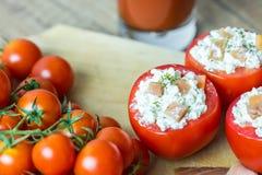 健康红色蕃茄开胃菜 免版税库存图片