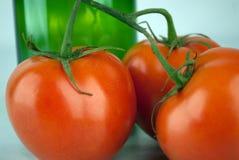 健康红色蕃茄 库存图片