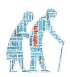 健康老化 库存图片