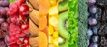 健康背景的食物 免版税库存照片