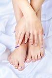 健康脚和手 免版税库存图片