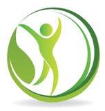 健康自然人商标 免版税库存照片