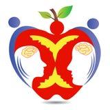 健康苹果夫妇 免版税库存图片