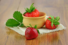 健康草莓 自然维生素 特写镜头 库存图片