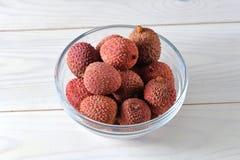 健康荔枝的果子鲜美和 库存照片