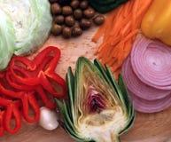 健康菜的选择 库存照片