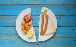 健康营养或节食的概念 免版税库存图片