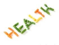 健康蔬菜字 免版税库存图片