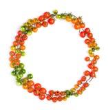 健康蕃茄圈子形状概念 免版税图库摄影