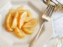 健康被烘烤的苹果点心 库存图片