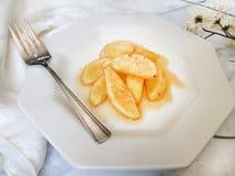 健康被烘烤的苹果点心 库存照片