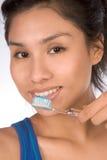 健康西班牙青少年的牙 库存图片
