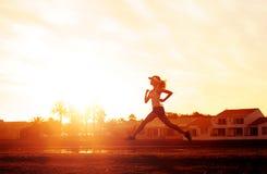 健康赛跑者培训 免版税库存照片
