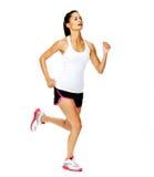 健康跑步的妇女 库存图片