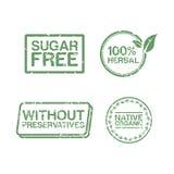 健康邮票的标签 免版税库存图片