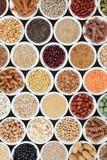 健康长寿的超级食物 免版税图库摄影
